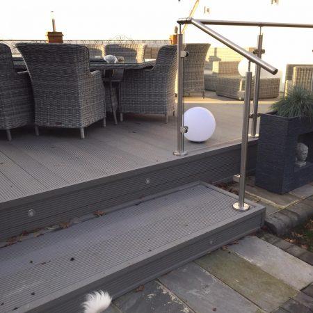 Grey composite decking board