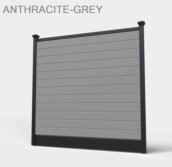 Anthracite grey fence