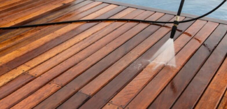 how to power wash your decking