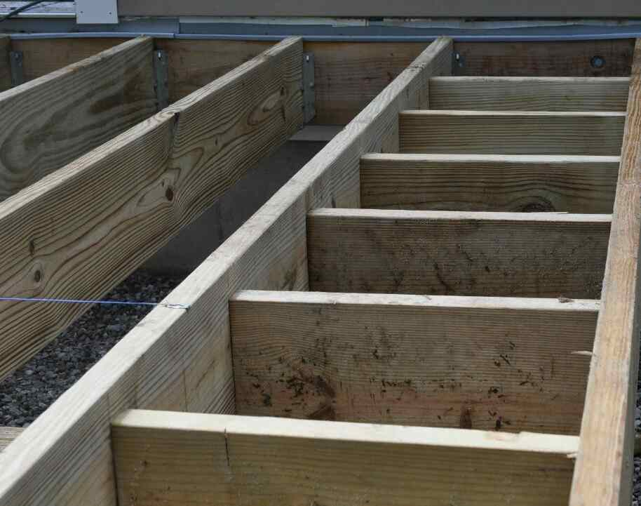 outdoor decking wooden joists