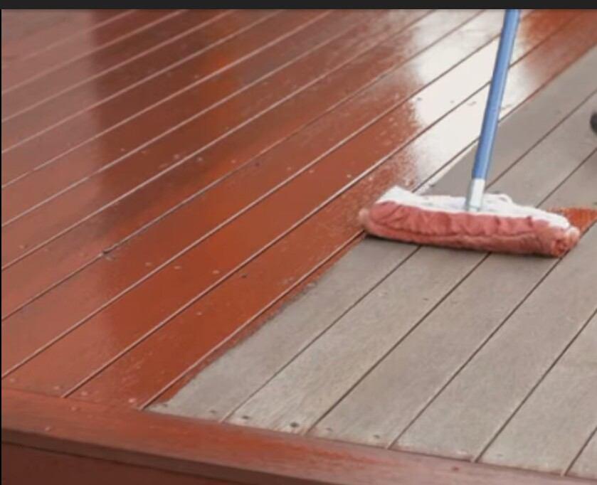 paint a plastic wood decking