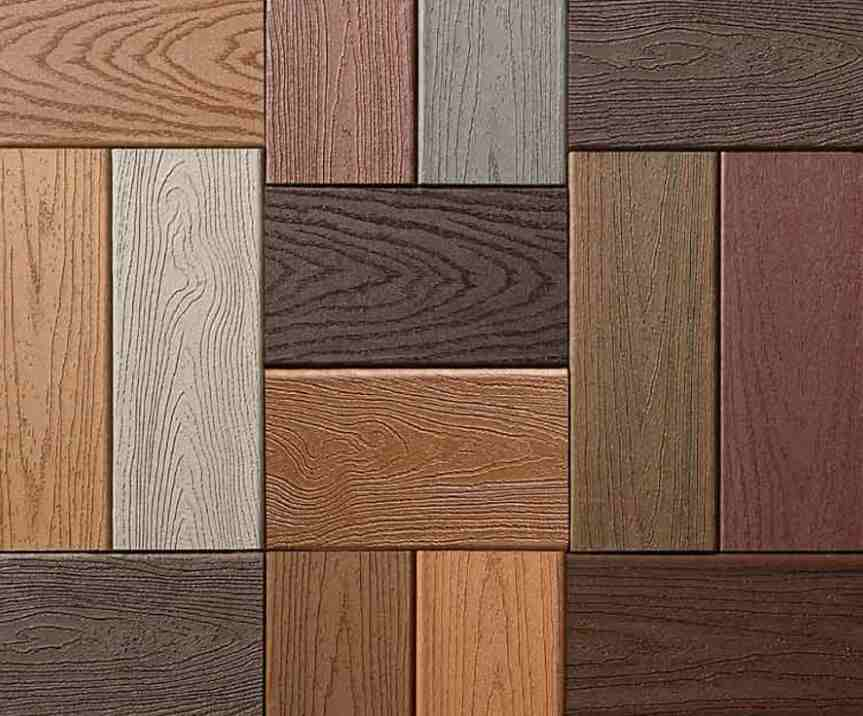 types of wood plastic decking