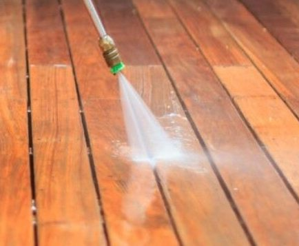 to keep outdoor decking clean