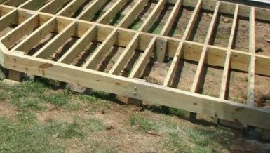 ground level outdoor decking foundation