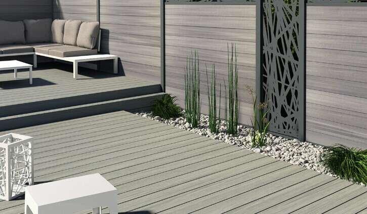 contemporary outdoor fence in your garden