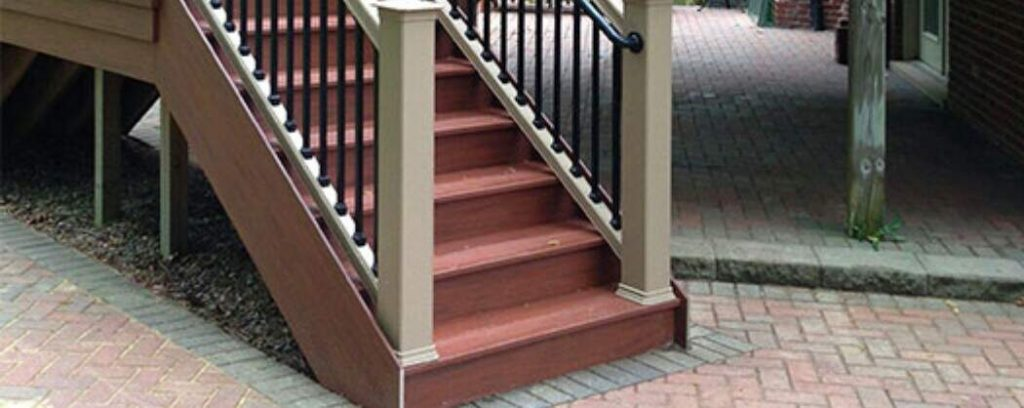 stairs on outdoor decking