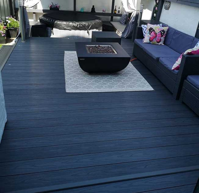 Anthracite grey outdoor decking