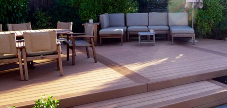 outdoor decking in commercial setting