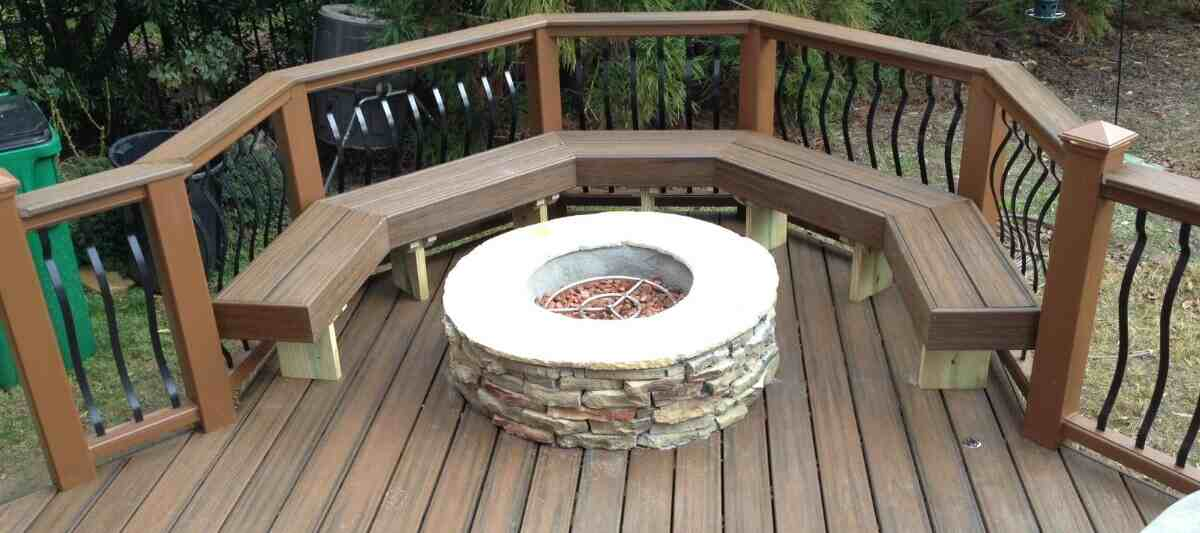 Can I Build A Fire Pit On My Composite Decking Cw
