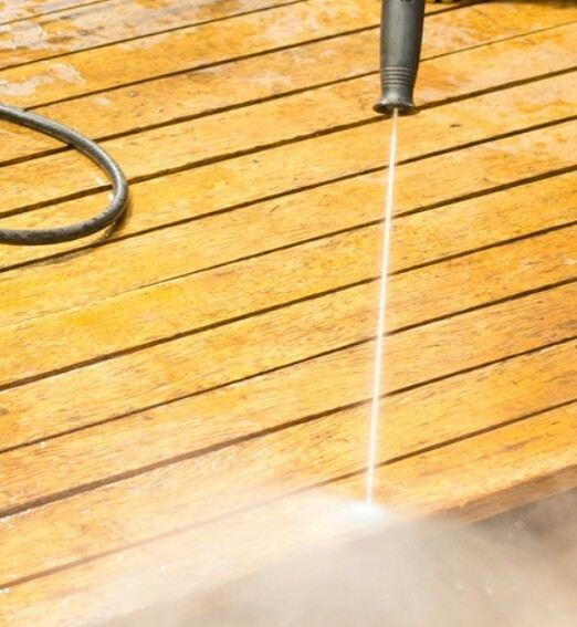 power wash outdoor decking