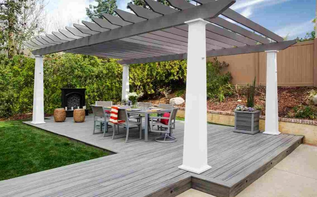 build a pergola on your plastic decking