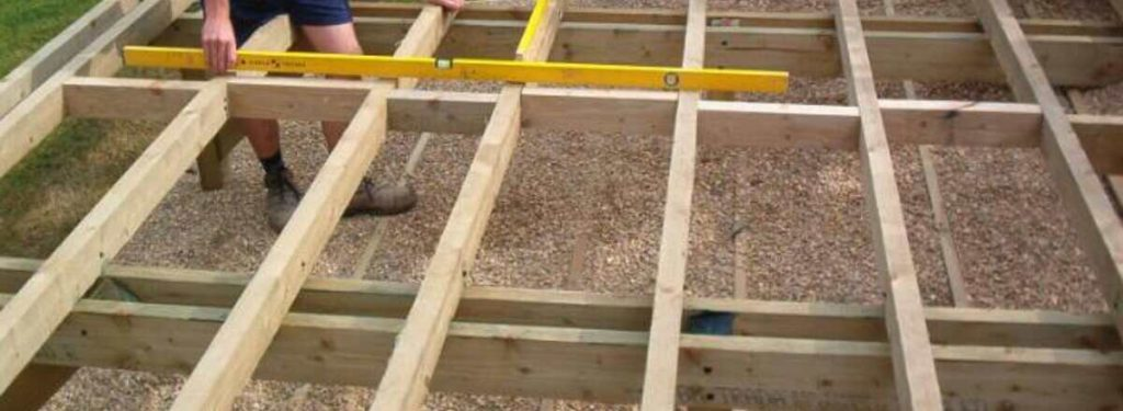 building joists for decking that is not hard to install