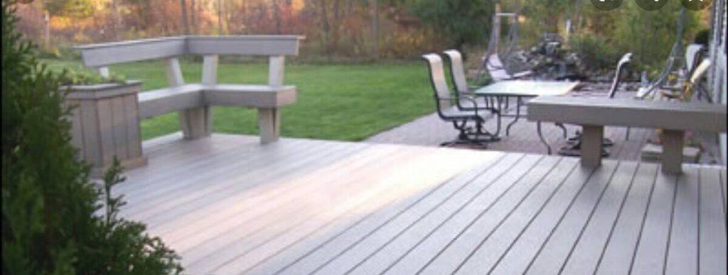slope garden decking ideas