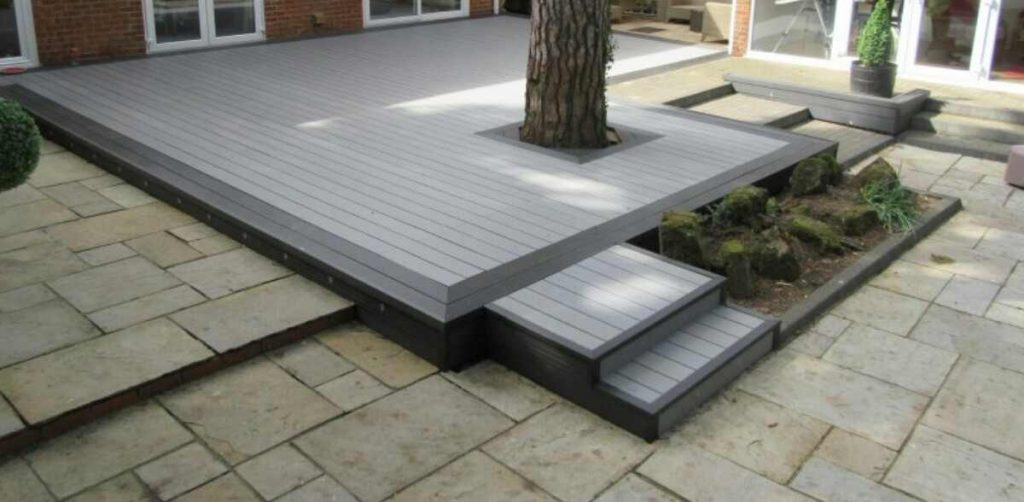 decking design ideas with a patio