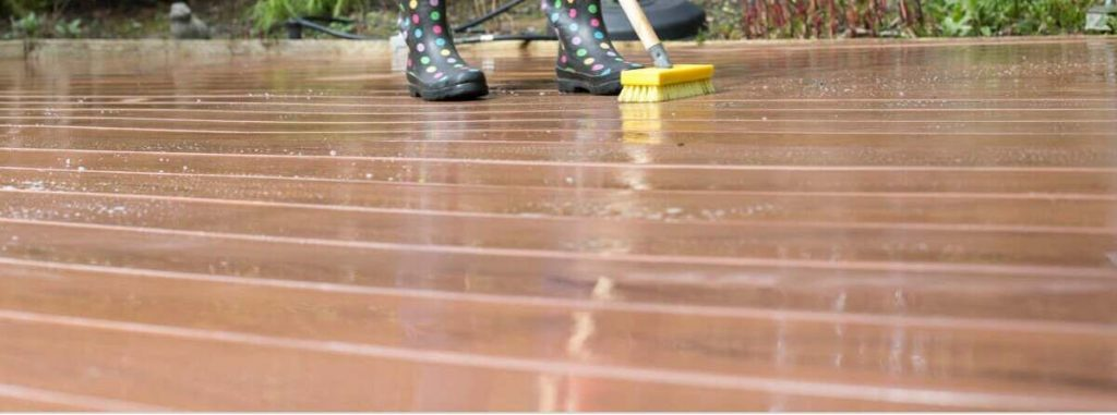 clean your decking yourself