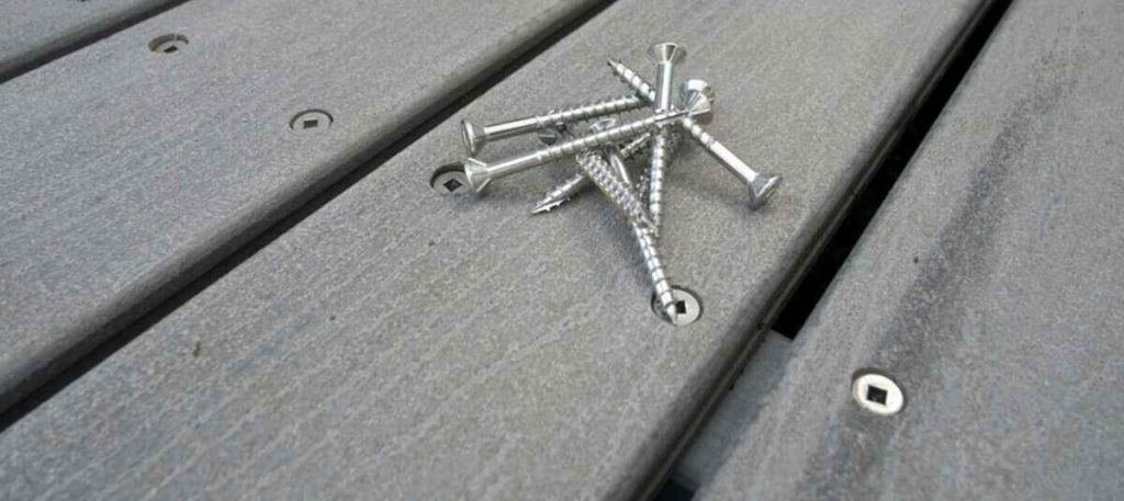 screw to install decking