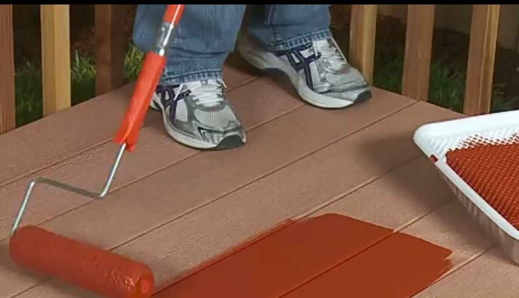 paint applied to decking